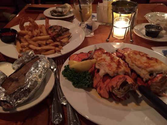 Lobster tails pick 2 ahi tuna grilled to medium and for Lynnhaven fish house