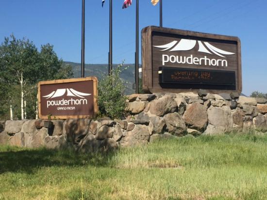 Mesa (Mesa County), Kolorado: Powderhorn Resort Entrance
