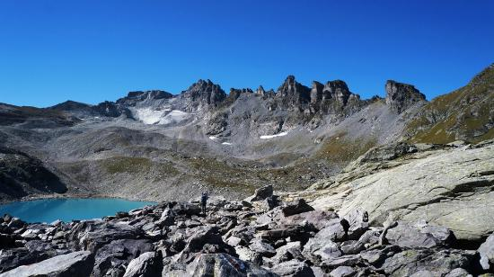 Pizol: Вид на вершину и озеро Wildsee