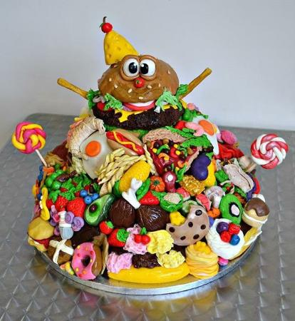 Incredible Giant Food Cake D Picture Of Mrs Browns Plymouth Tripadvisor Funny Birthday Cards Online Sheoxdamsfinfo
