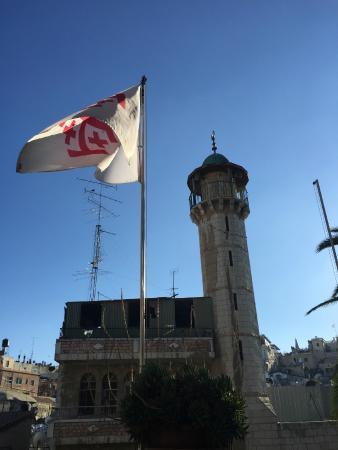 Austrian Hospice: Ausblick auf das gegenüberliegende Minarett