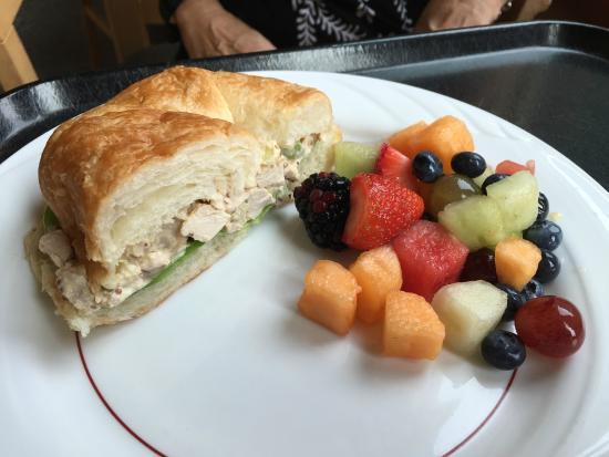 Minnesota Landscape Arboretum: Chicken salad on croissant with fresh fruit