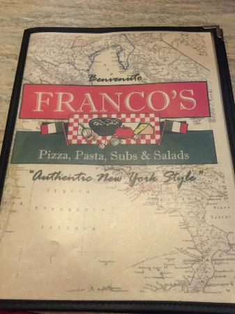 Franco's Pizza: Menu