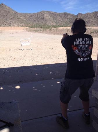 City of Casa Grande Mountain Park Public Shooting Range: A little family time with my daughter at the range.