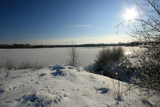 West Jefferson, OH: Darby Bend lakes in winter