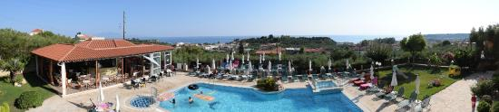 Ariadne Hotel Apartments: Panoramic view from reception balcony