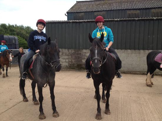 Anglesey Riding Centre: Back from a ride.