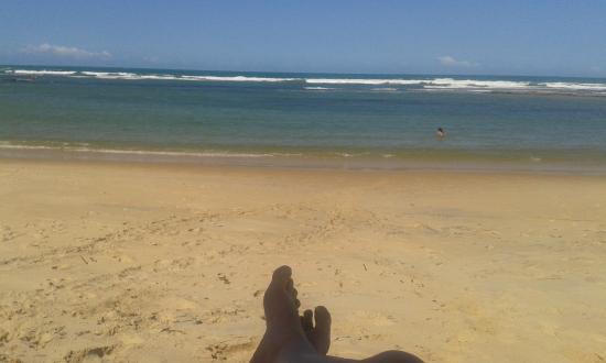 Aquarela Praia: praia do hotel
