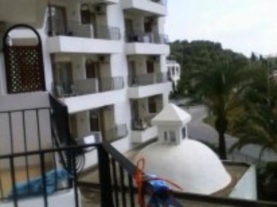 Palm d'Or: вид с балкона