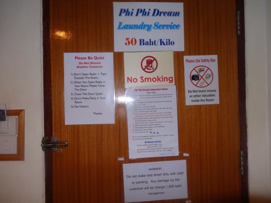 Phi Phi Dream Guest-House : A few do' & dont's