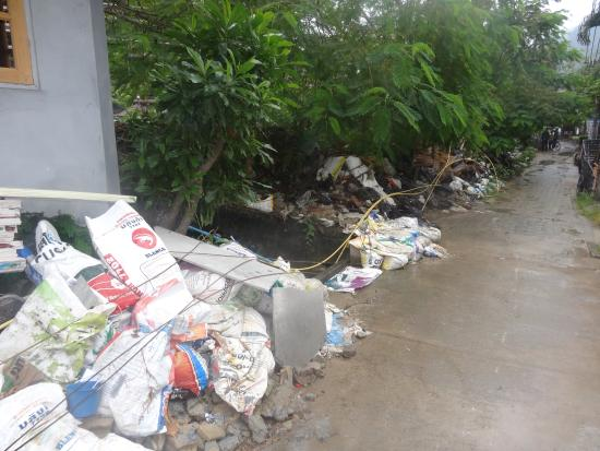Phi Phi Dream Guest-House : Just down the road, this was November 2014 but might be cleared away now..