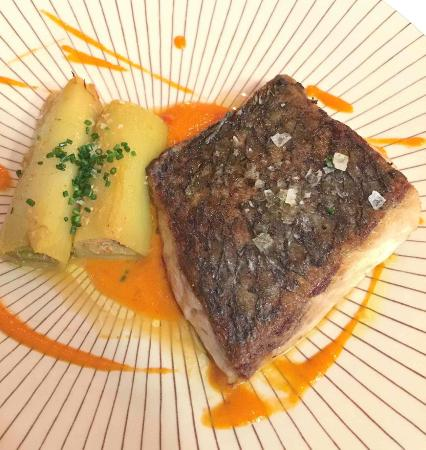 Sea bass and crab filled leeks picture of restaurante arume