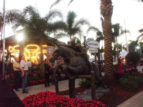 The Palm Beach International Equestrian Center Saay Night Lights Carousel