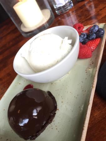 Flourless chocolate cake was too dense