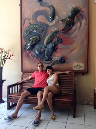 Hotel Anaconda: En la entrada del hotel