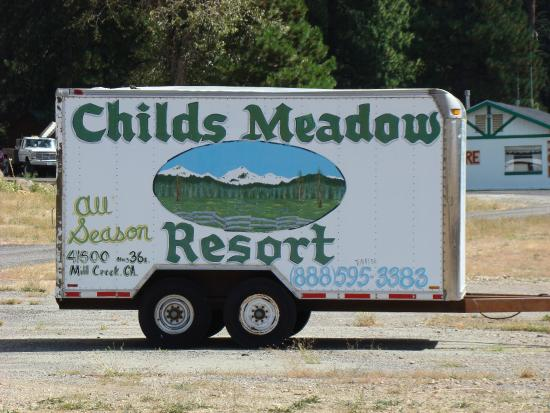 Childs Meadow Resort: Sign