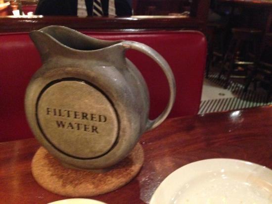 Clyde's At Mark Center: Water pitcher