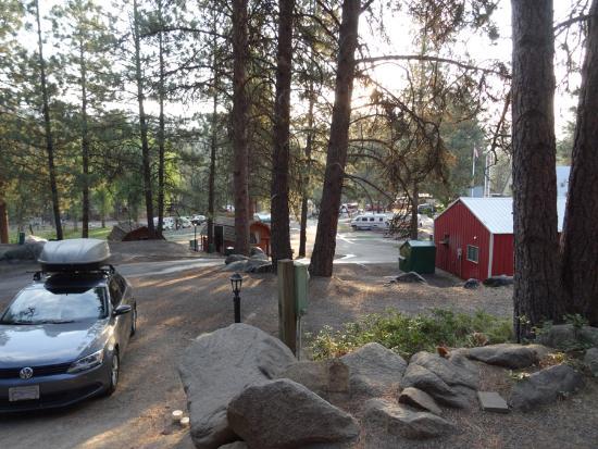 Leavenworth / Pine Village KOA: View from our cabin.