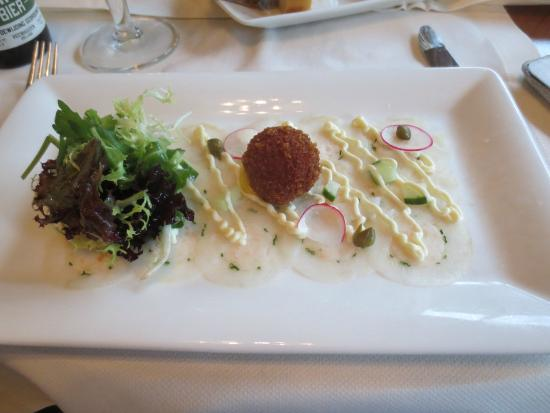 Hotel Restaurant Het Witte Huis : Croquette with lobster tail.  Starter.