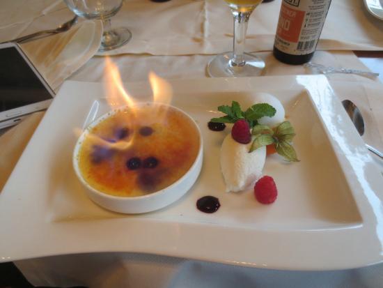 Hotel Restaurant Het Witte Huis : Creme brulee flammbee