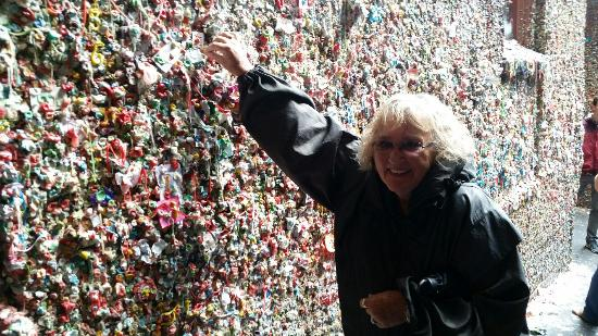 Savor Seattle Food Tours: At the Gum Wall at the Pike Place Market in Seattle, WA