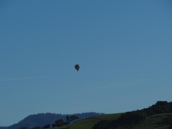 Balão sobrevoando Los Olivos em Santa Ynez Valley