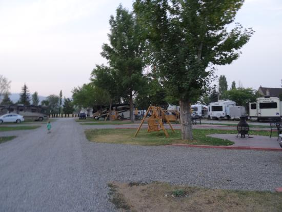 Spokane KOA: RV sites.