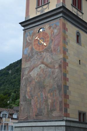 Altdorf, Suíça: Particolare dell'affresco