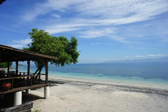 Cocotinos Sekotong, Boutique Beach Resort & Spa: View from Sea SportsCentre