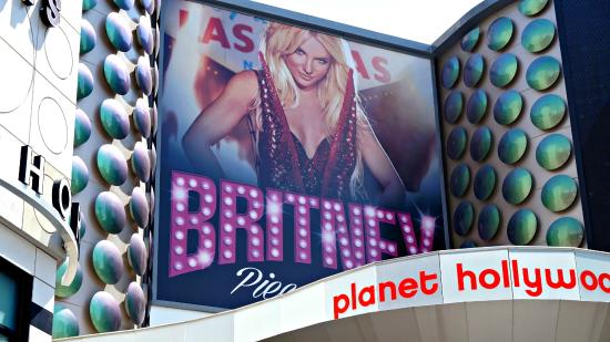 Poster Outside Picture Of Britney Spears Piece Of Me Las Vegas Tripadvisor
