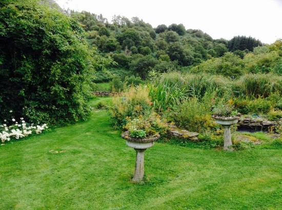 Erwood, UK: Guest house gardens