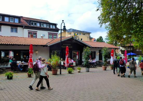 Wellnesshotel Germania: Im Vordergrund Restaurant