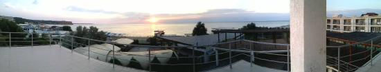 Peschanoye: Панорама - вид с балкона 3-его этажа