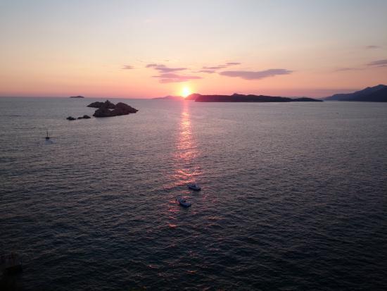 Hotel Dubrovnik Palace: Tramonto dalla terrazza