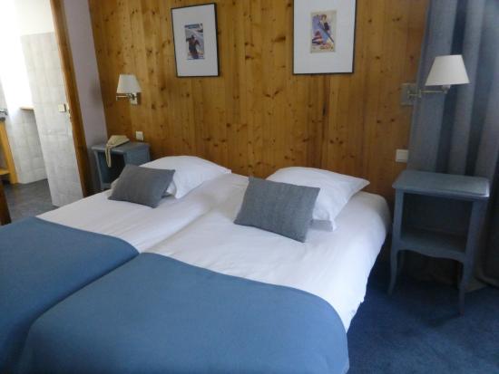 Hotel de La Couronne : Chambre avec vue sur glacier