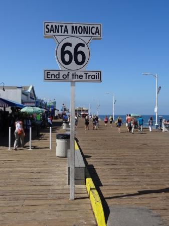 United States: La ou fini la Route 66 a Santa Monica a Los Angeles