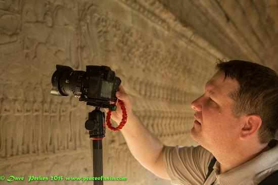 Monk Art Photography Gallery: Karl at the Churning of the Ocean Relief at Angkor Wat