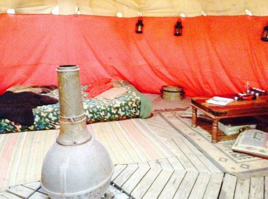 Eco Retreats: inside tipi