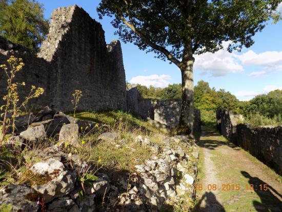 Houx, België: Défilé d'entrée du château