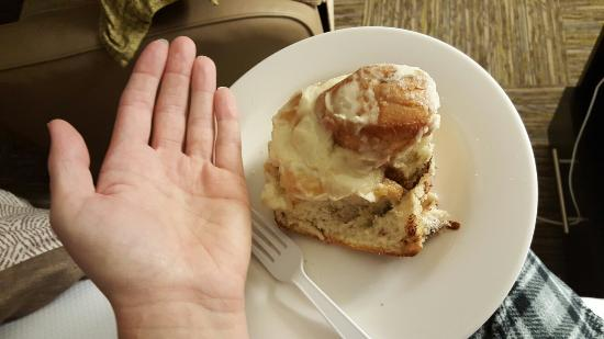Glen Haven, Колорадо: The biggest and tastiest cinnamon roll EVER.