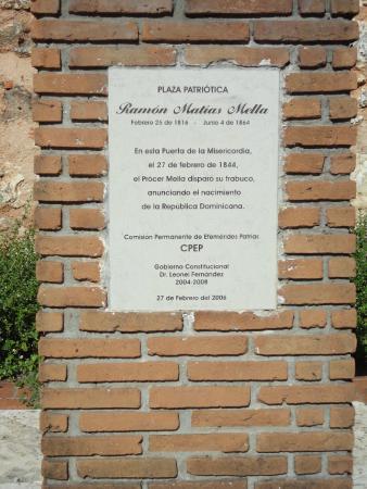 Gate of Mercy (Puerta de la Misericordia): Placa de Sitio.
