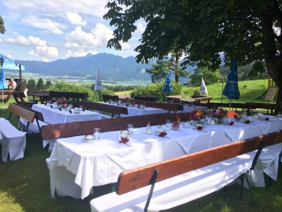Hochzeit Im Garten Picture Of Berggasthof Kreut Alm Grossweil