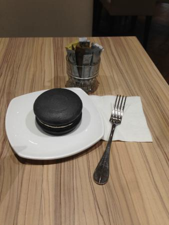 The House of Robert Timms: Massive Macaroon, fork for scale