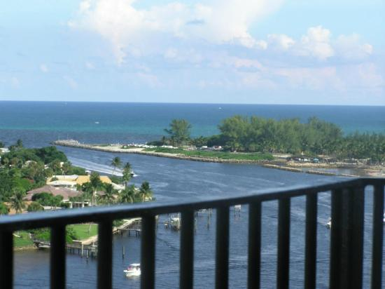 View from the top of the Jupiter Inlet Lighthouse