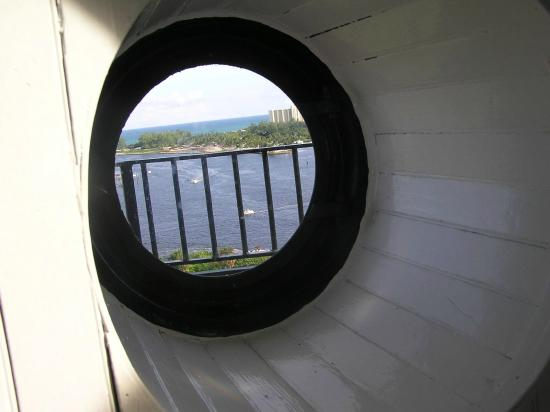 Window near the top of the Jupiter Inlet Lighthouse