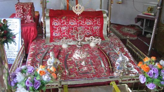 Gurdwara Pathar Sahib: In the shrine at Pathersaheb