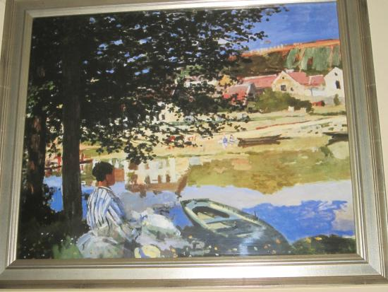 Bennecourt, France: Tableau de Monet...