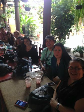 Cafe Estudio : enjoying smoothies and coffee after a workshop in our gorgeous little patio