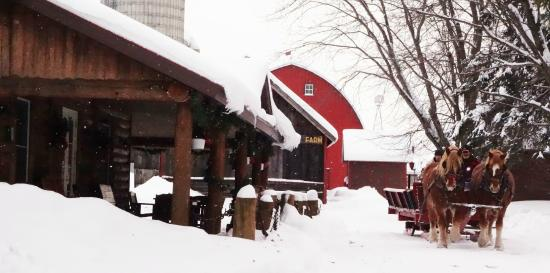 Brantwood, WI: Warming Lodge at Palmquist Farm