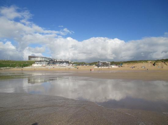 Fistral Beach: Shops and rstaurants